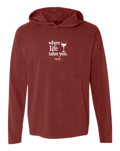 "WLTY Wine ""Enjoy"" Adult Hooded Long Sleeve"