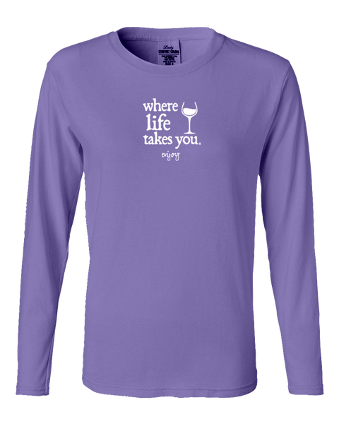 "WLTY Wine ""Enjoy"" Ladies Long Sleeve"