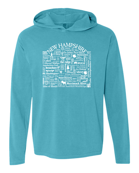 "WLTY ""New Hampshire"" Adult Hooded Long Sleeve"