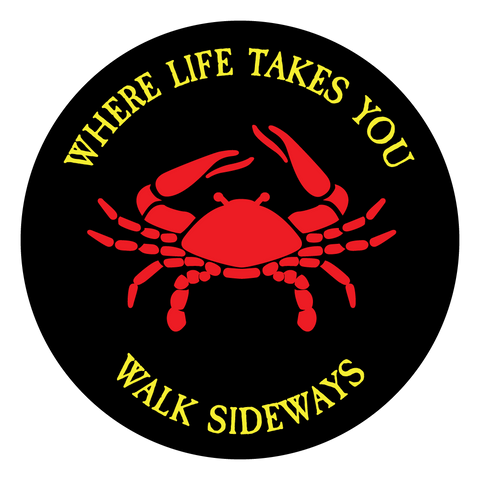 "WLTY Crab ""Walk Sideways"" Decal"