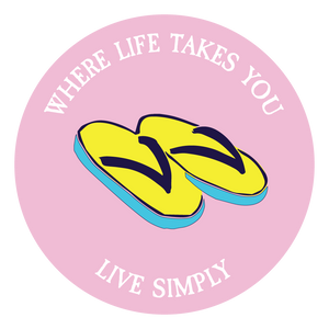 "WLTY Flip Flops ""Live Simply"" Decal"