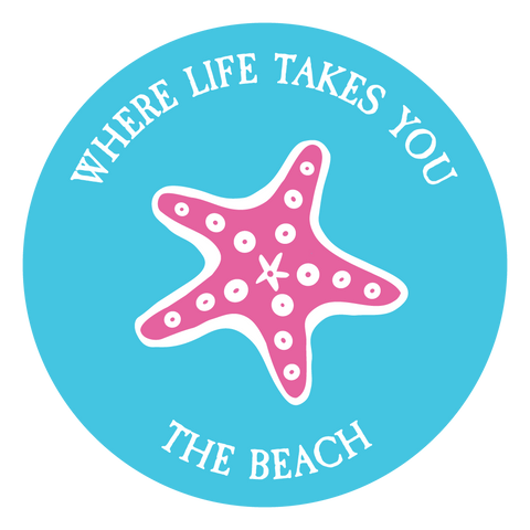 "WLTY Starfish ""The Beach"" Decal"