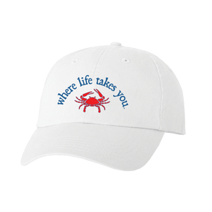 "WLTY Crab ""Walk Sideways"" White Cap"