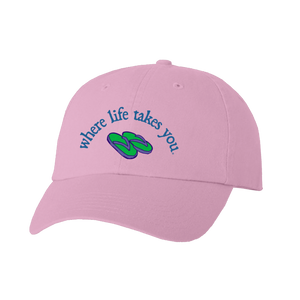 "WLTY Flip Flops ""Live Simply"" Pink Cap"