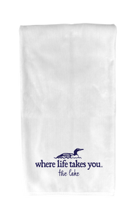 "WLTY Loon ""The Lake"" Flour Sack Kitchen Towel"