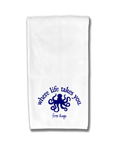 "WLTY Octopus ""Free Hugs"" Flour Sack Kitchen Towel"