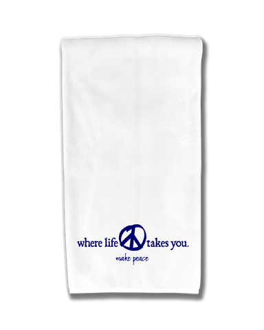 "WLTY Peace ""Make Peace"" Flour Sack Kitchen Towel"