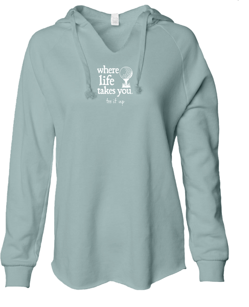 "WLTY Golf ""Tee It Up"" Ladies Lightweight Hooded Sweatshirt"