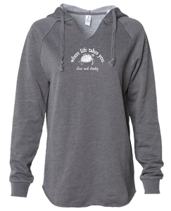 "WLTY Turtle ""Slow and Steady"" Ladies Lightweight Hooded Sweatshirt"
