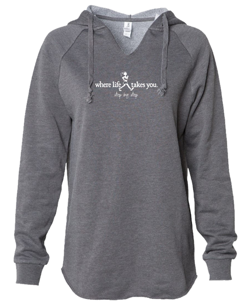 "WLTY Walker ""Step by Step"" Ladies Lightweight Hooded Sweatshirt"