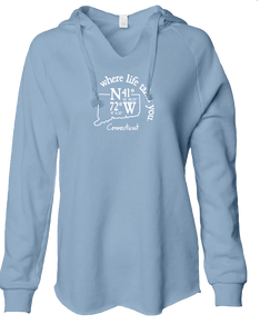 "WLTY Coordinates ""Connecticut"" Ladies Lightweight Hooded Sweatshirt"