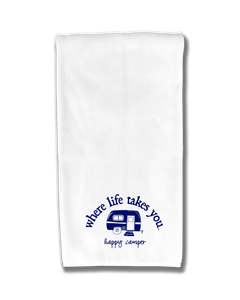 "WLTY RV ""Happy Camper"" Flour Sack Kitchen Towel"