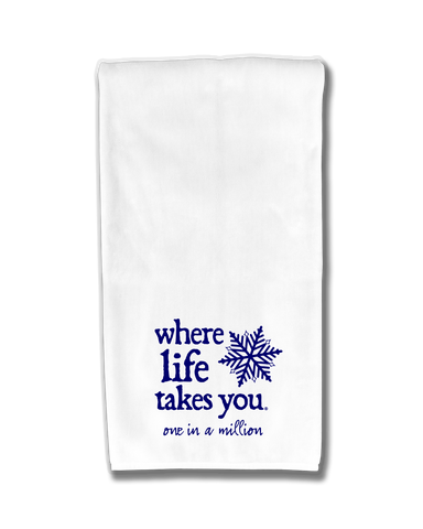 "WLTY Snowflake ""One in a Million"" Flour Sack Kitchen Towel"