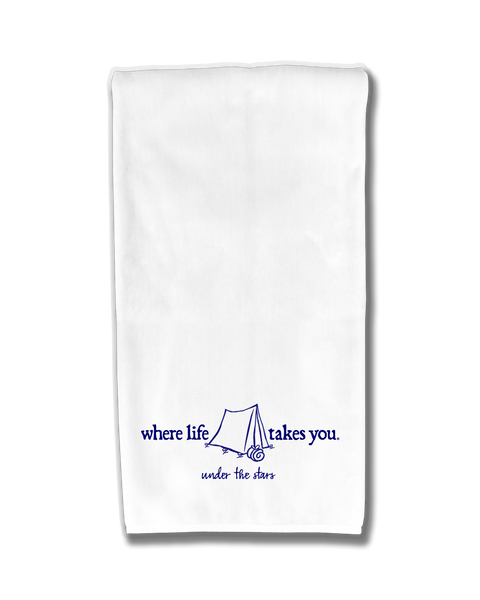 "WLTY Tent ""Under the Stars"" Flour Sack Kitchen Towel"