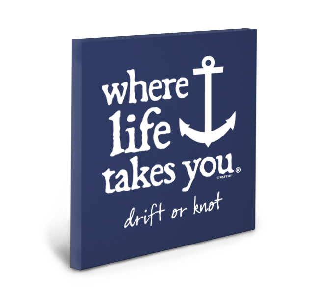 Drift or Knot Gallery Wrapped Canvas (Navy)