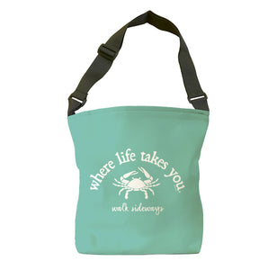 Walk Sideways (Chalky Mint) Tote Bag