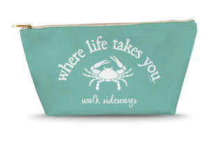 Walk Sideways (Chalky Mint) Large Accessory Bag