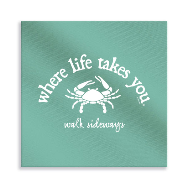 Walk Sideways (Chalky Mint) Gallery Wrapped Canvas