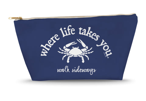Walk Sideways (Navy) Large Accessory Bag