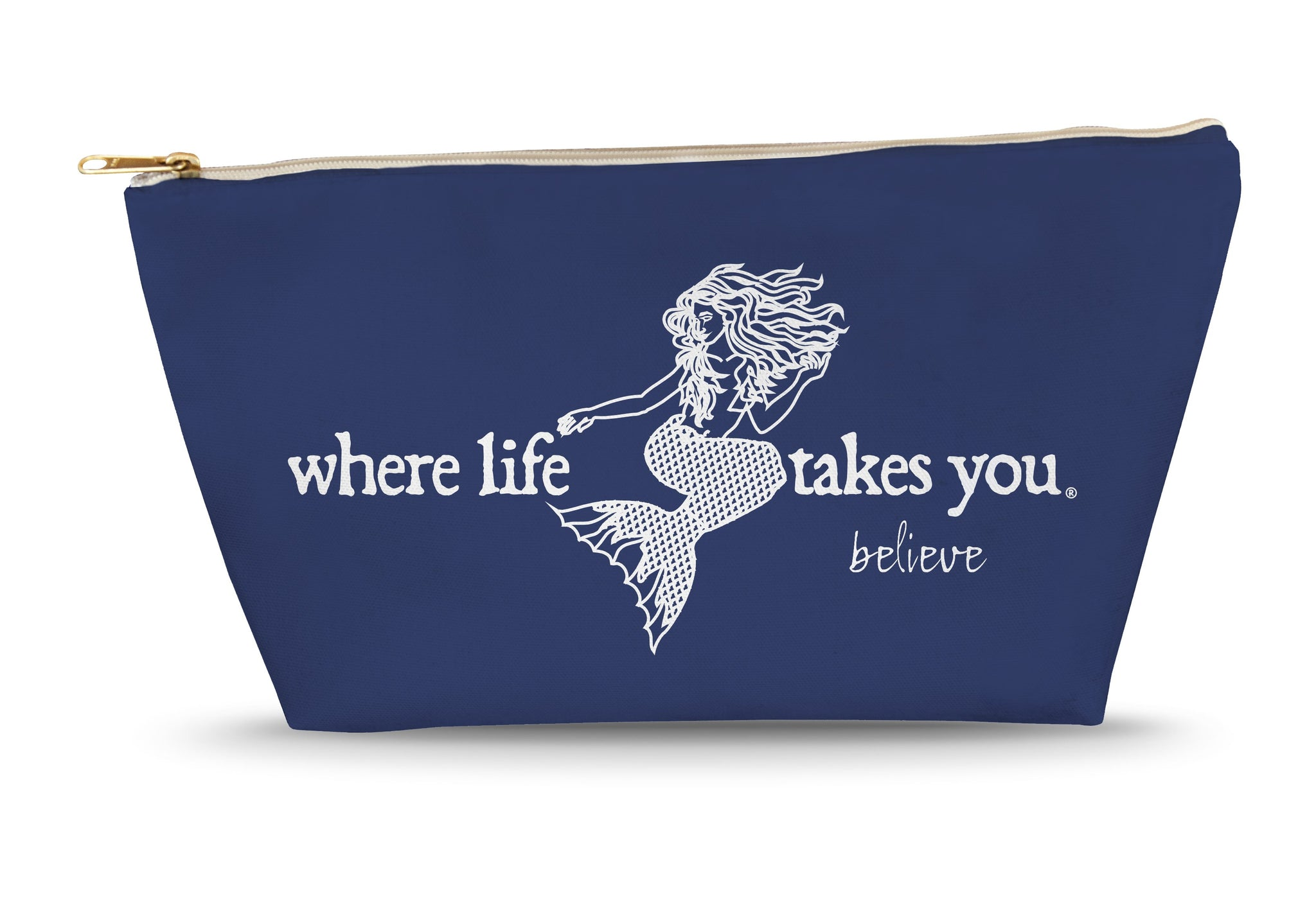 Believe Large Accessory Bag (Navy)