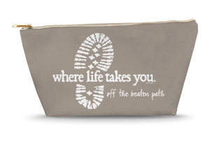 Off the Beaten Path (Khaki) Large Accessory Bag