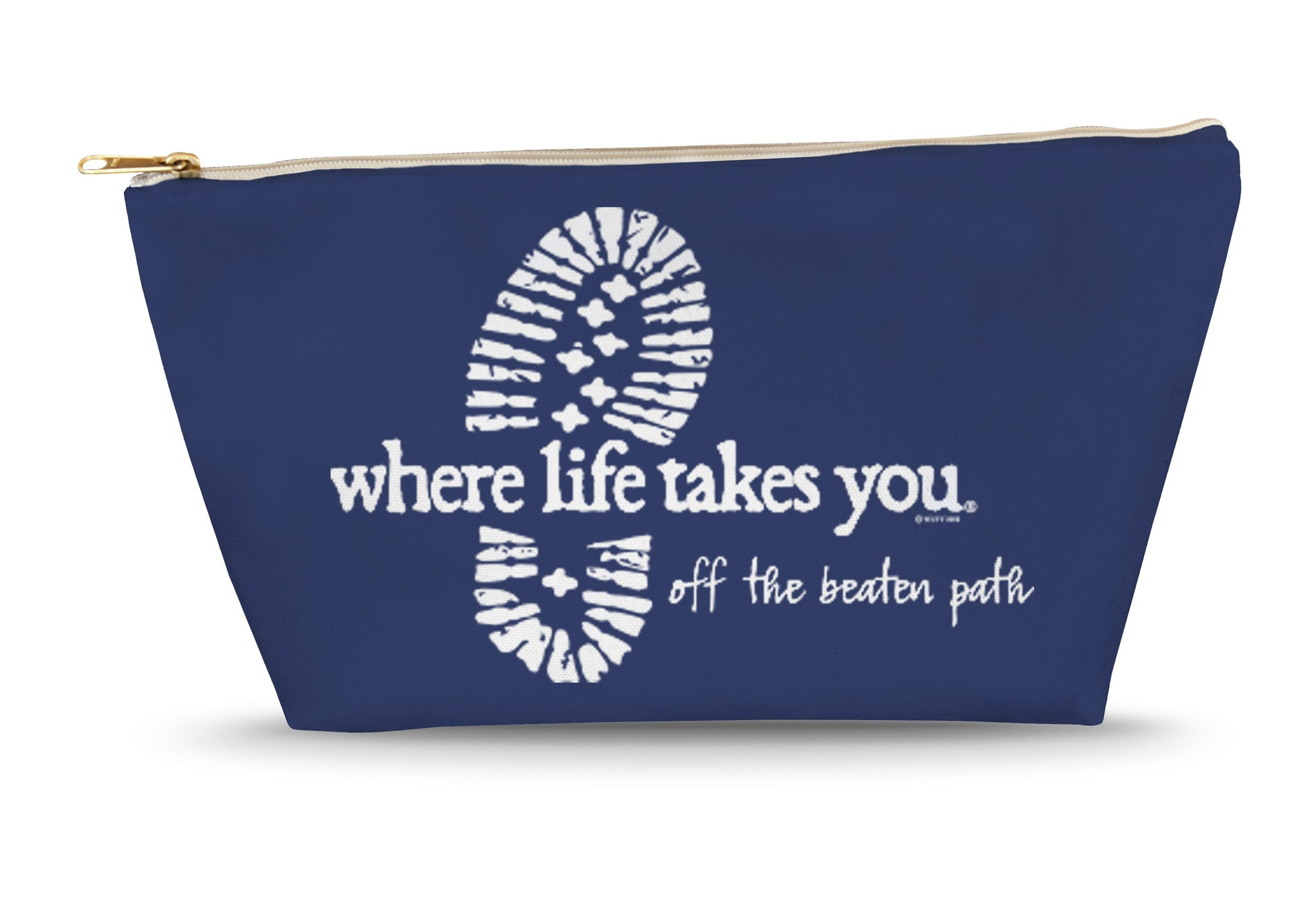 Off the Beaten Path (Navy) Large Accessory Bag