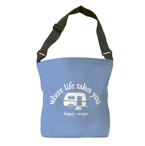 Happy Camper (Flo Blue) Tote Bag