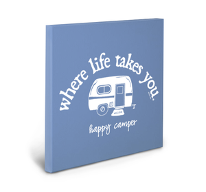 Happy Camper (Flo Blue) Gallery Wrapped Canvas