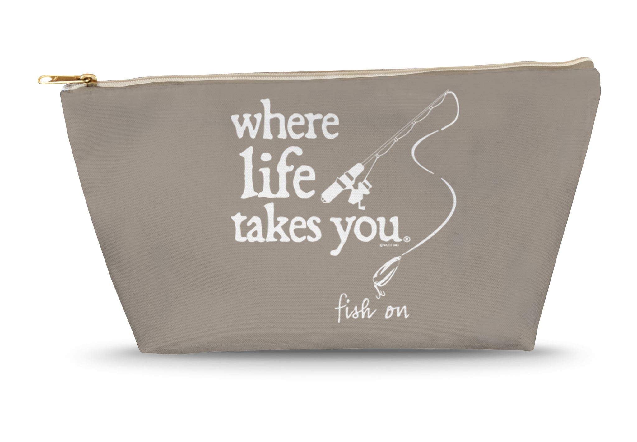 Fish On (Khaki) Large Accessory Bag