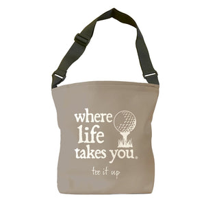 Tee It Up (Khaki) Tote Bag
