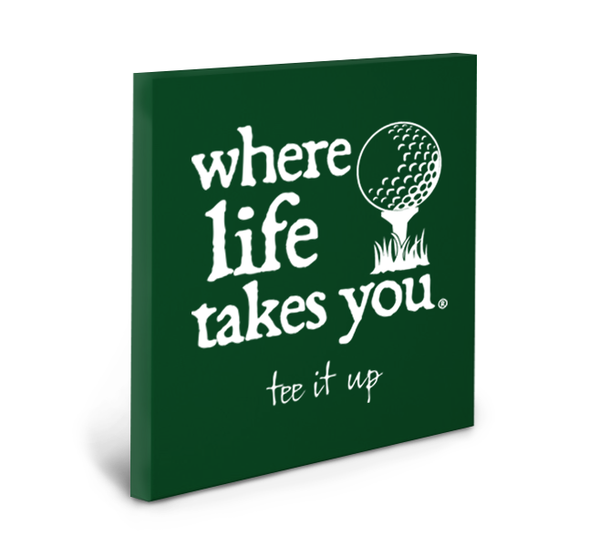 Tee It Up (Spruce) Gallery Wrapped Canvas