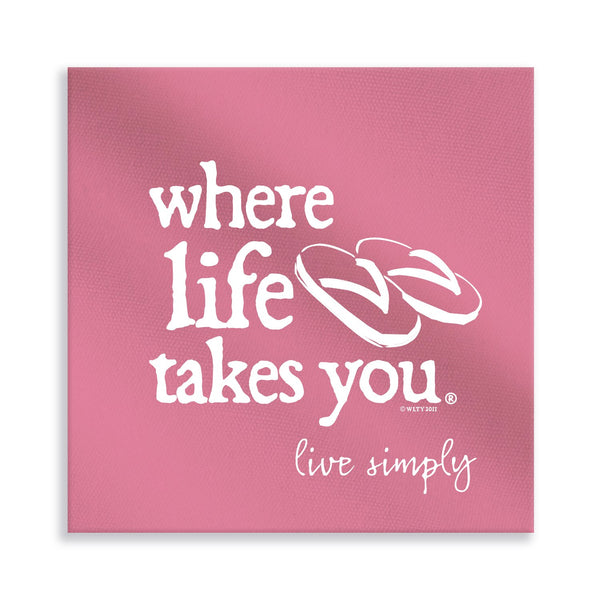 Live Simply (Crunchberry) Gallery Wrapped Canvas