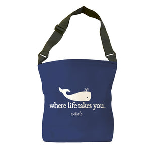 Exhale (Navy) Tote Bag