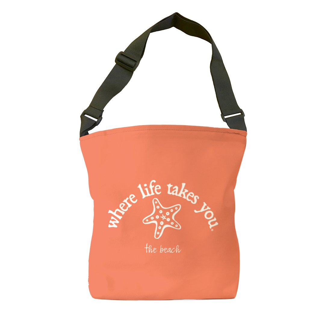 The Beach (Bright Salmon) Tote Bag