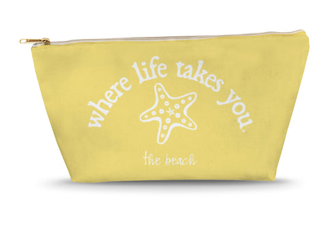The Beach (Butter) Large Accessory Bag