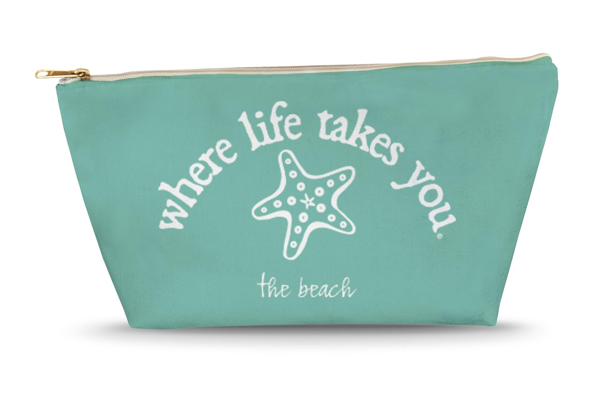 The Beach (Chalky Mint) Large Accessory Bag