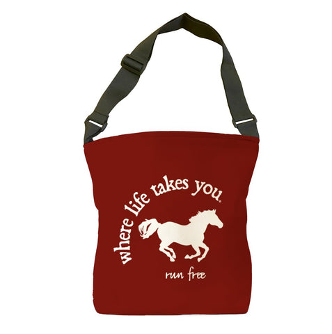 Run Free (Brick) Tote Bag