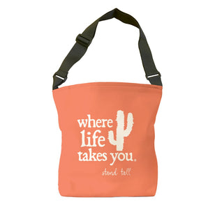 Stand Tall (Bright Salmon) Tote Bag
