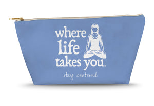Stay Centered (Flo Blue) Large Accessory Bag