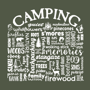 "WLTY ""Camping"" Adult Short Sleeve T-Shirt"