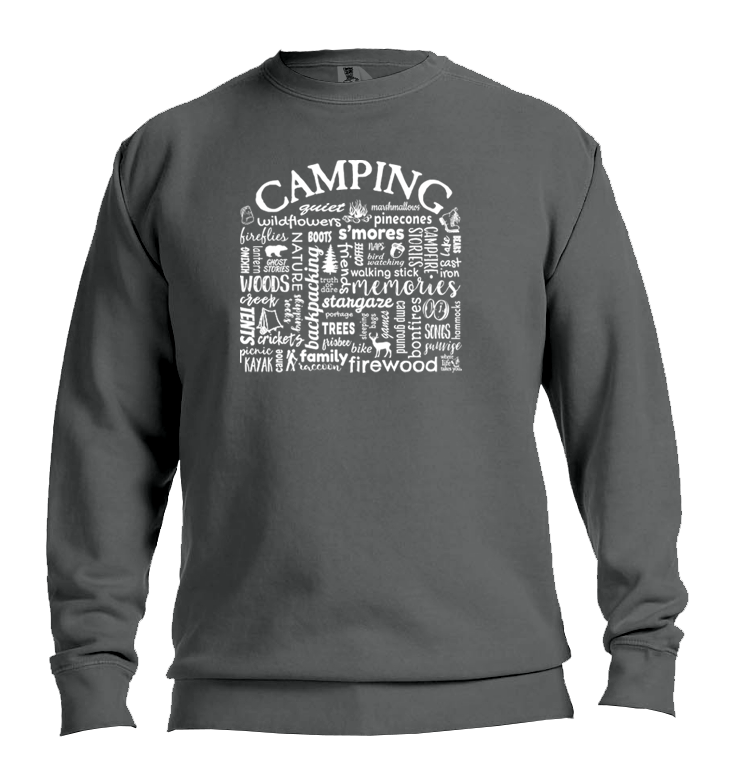 "WLTY ""Camping"" Adult Crew Neck Sweatshirt"