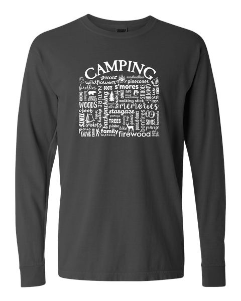 "WLTY ""Camping"" Adult Long Sleeve T-Shirt"