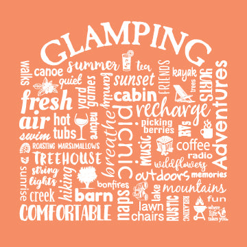 "WLTY ""Glamping"" Adult Hooded Long Sleeve"