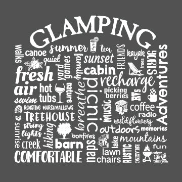 "WLTY ""Glamping"" Adult Hooded Sweatshirt"