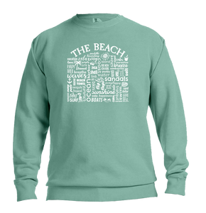 "WLTY ""The Beach"" Adult Crew Neck Sweatshirt"