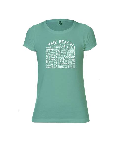 "WLTY ""The Beach"" Ladies Short Sleeve T-Shirt"