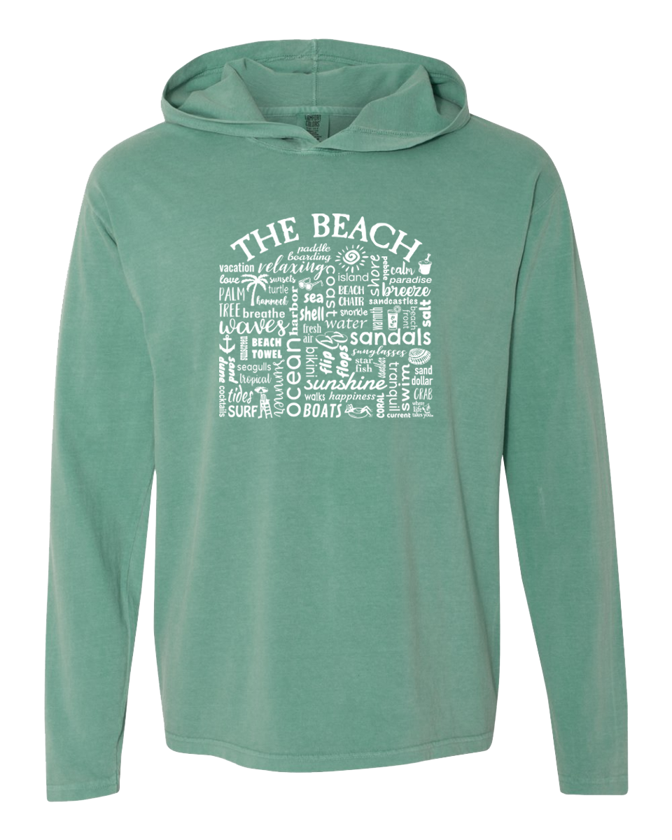 "WLTY ""The Beach"" Adult Hooded Long Sleeve"