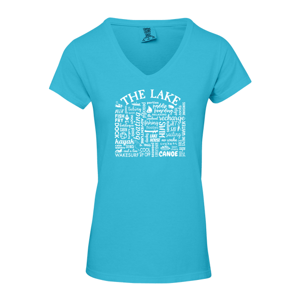 "WLTY ""The Lake"" Ladies V-Neck T-Shirt"