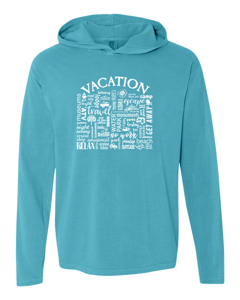 "WLTY ""Vacation"" Adult Hooded Long Sleeve"