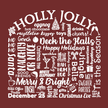 "WLTY ""Holly Jolly"" Adult Hooded Long Sleeve"